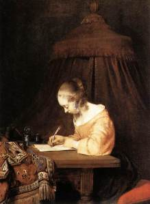 TERBORCH-Gerard-Woman-Writing-A-Letter